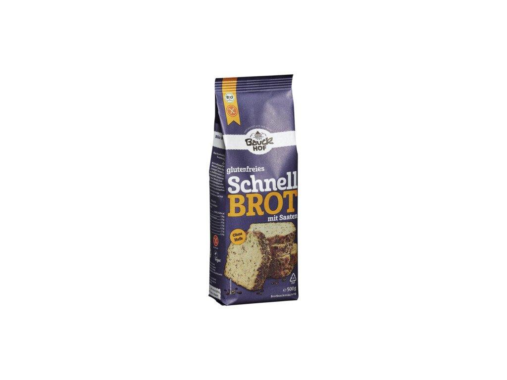 6 x Bauckhof Bio Směs na Chléb rýžová bez lepku, 500g