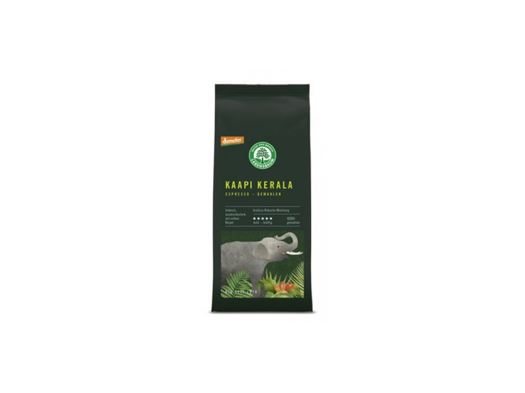 6 x Lebensbaum Bio Espresso Kaapi Kerala mleté, 250g
