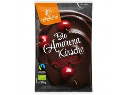 10 x Landgarten Bio Hořká čokoláda s višněmi, 50g