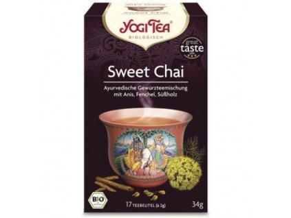 6 x Yogi Bio Anýzový čaj Sweet Chai, 17 pytlíků
