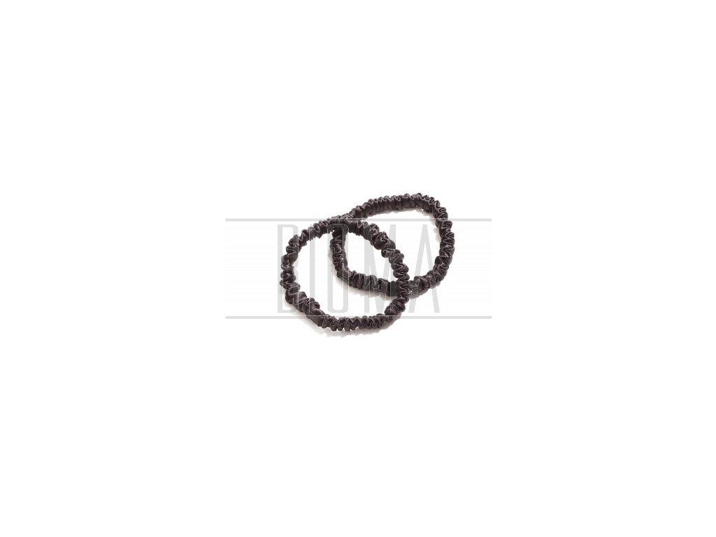 Pilō | Silk Hair Ties - Brunette Slim
