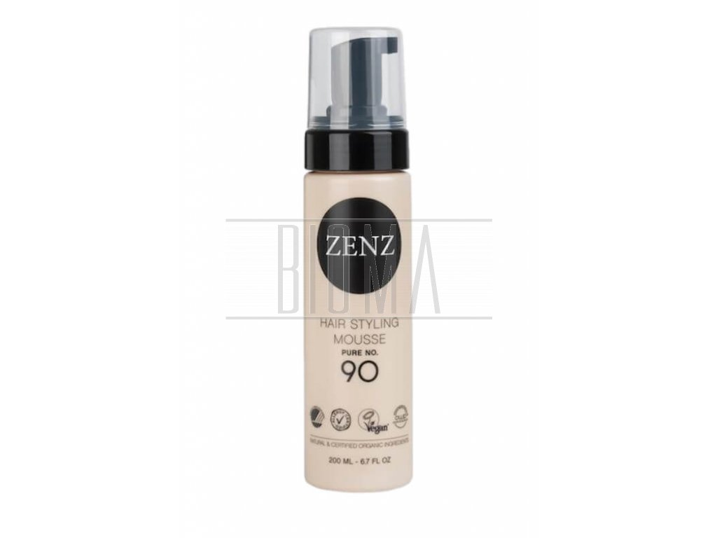 zenz hair styling mousse pure no 90 extra volume 200 ml 2@2x