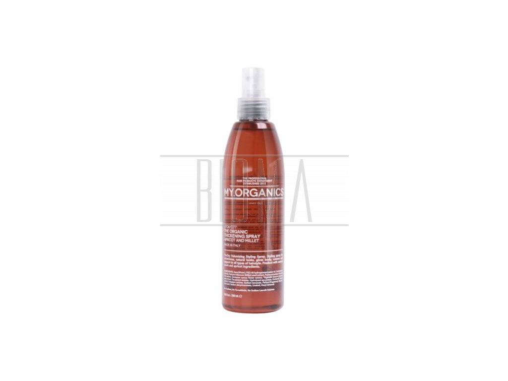 my organics the organic thickening spray apricot and millet 250ml