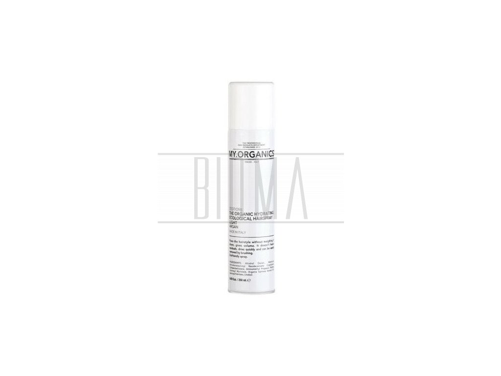 my organics the organic hydrating ecological hairspray light argan 250ml