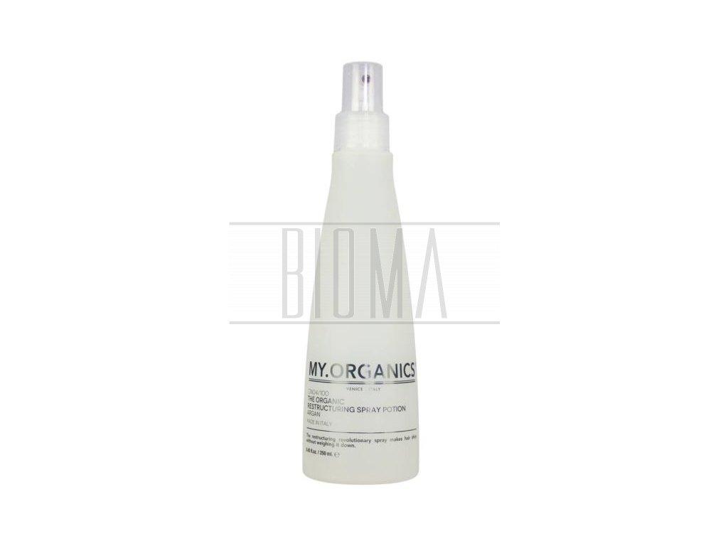 my organics the organic restructuring spray potion argan 250ml