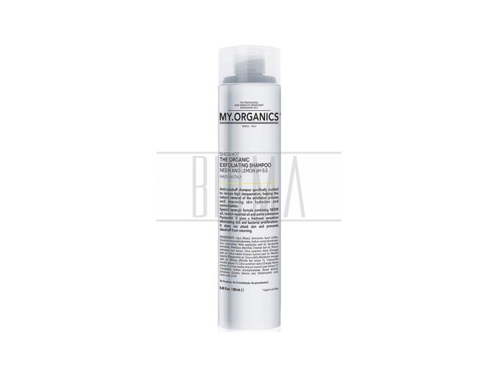 my organics the organic exfoliating shampoo neem and lemon