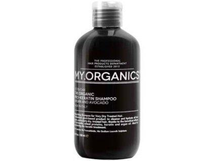 my organics the organic pro keratin shampoo argan and avocado 250ml