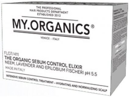 my organics the organic sebum control elixir neem lavender and epilobium fischeri 6 vials