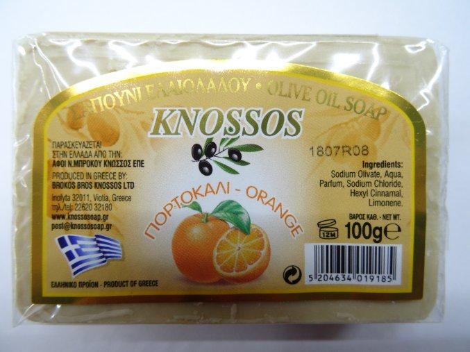 Knossos mýdlo tuhé olivové s vůní pomeranče 100 G