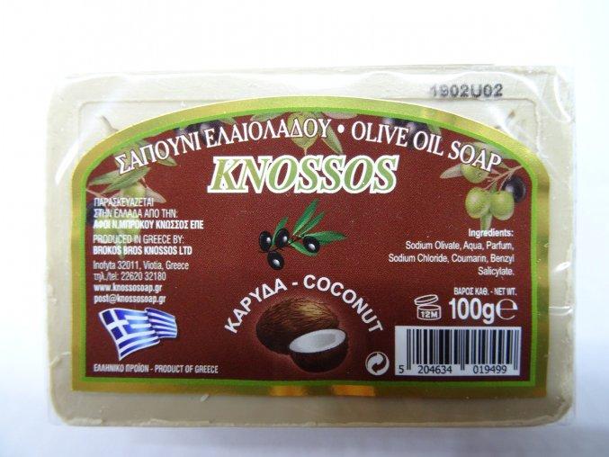 Knossos mýdlo tuhé olivové s vůní kokosu 100 G