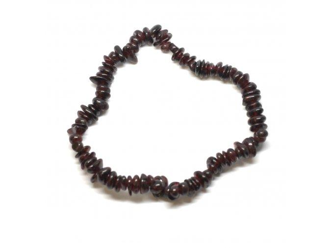 Náramek z vzácných kamenů - Granát Červený