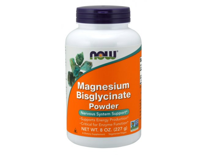 NOW Magnesium Bisglycinate (hořčík bisglycinát), prášek, 227 g (2)