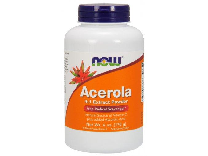 NOW Acerola prášek, přírodní vitamin C, 170 g (6 oz)