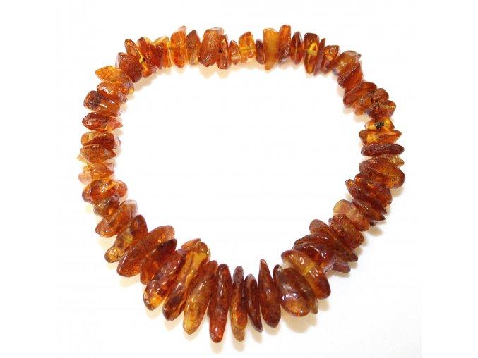 Náramek pro ženy - sekané medové kamínky - tmavé (18cm)