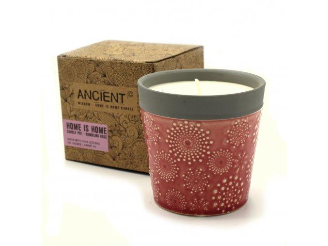 dekorativní svíčka červená