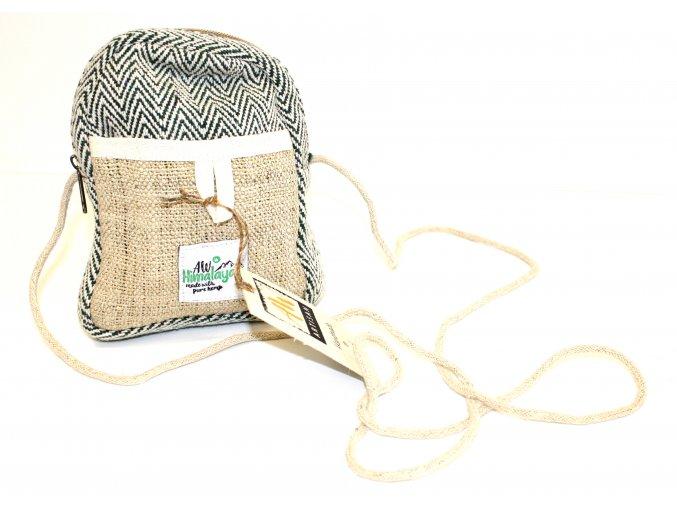 Praktická Konopná Taška přes Rameno - khaki
