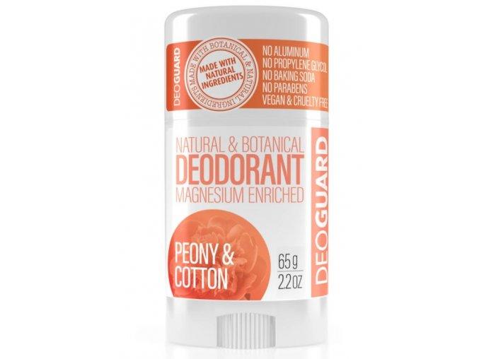 tuhý přírodní deodorant deogaurd pivoňka