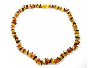 Jantarový náhrdelník 45 cm - přírodní, multicolor
