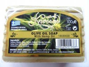 Knossos mýdlo tuhé olivové s konopným olejem 100 G
