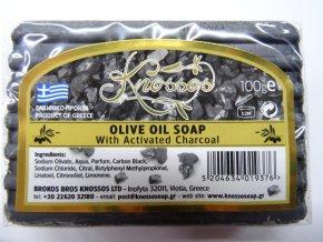 Knossos mýdlo tuhé olivové s aktivním uhlím 100 G