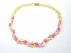 růžový náhrdelník