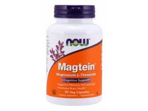 NOW Magtein Magnesium (hořčík L treonát), 90 rostlinných kapslí