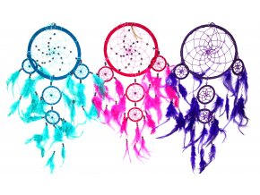 Bali lapač snů - kruh velký 55 cm - fialový