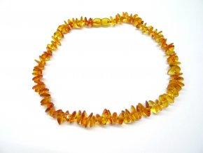 Jantarové korálky pro větší děti  - medové  (38 cm)