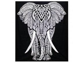 černý přehoz na postel slon
