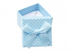 krabička na šperky modrá s mašlí