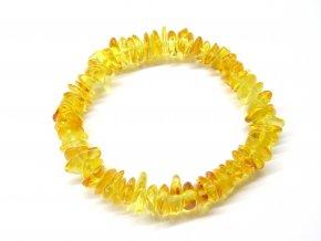 Náramek pro ženy - citronový sekaný jantar, 18 cm