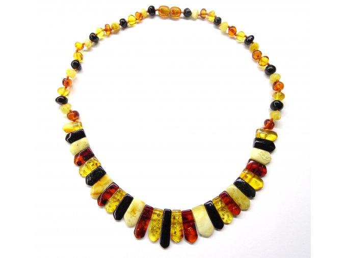 Jantárový náhrdelník - rôzne dĺžky (cm 45 cm)