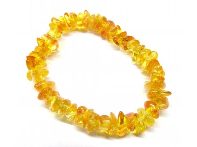 Jantárový náramok pre najmenšie deti - rôzne odtiene (farba jantáru citrónový)
