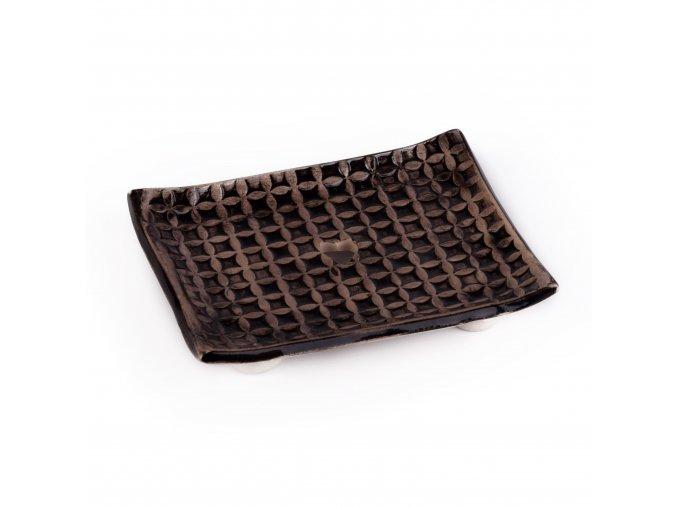 Mydelnička keramická čierna