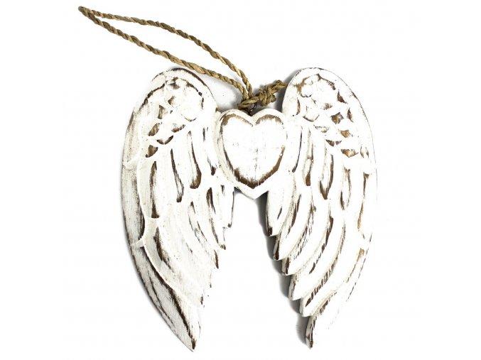 dřevěná andělská křídla