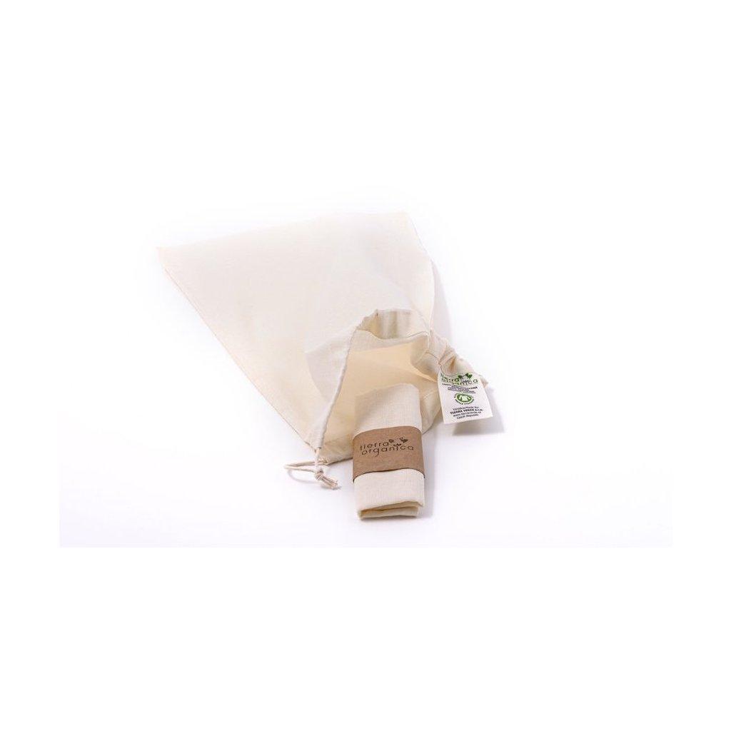 Plátené vrecko z biobavlny malé 30x20 - Casa Organica