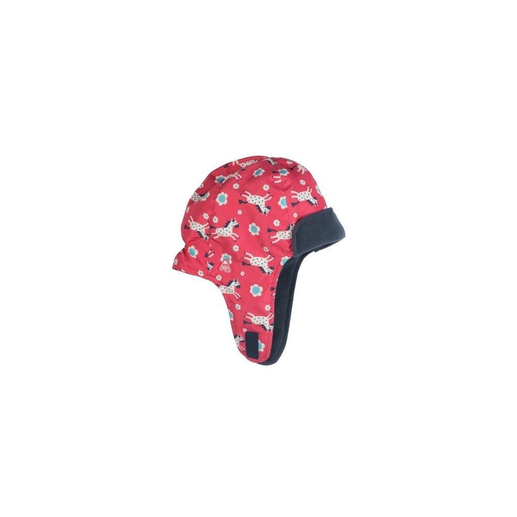 Zimná čiapka s kvetinkami a koníkmi - Frugi