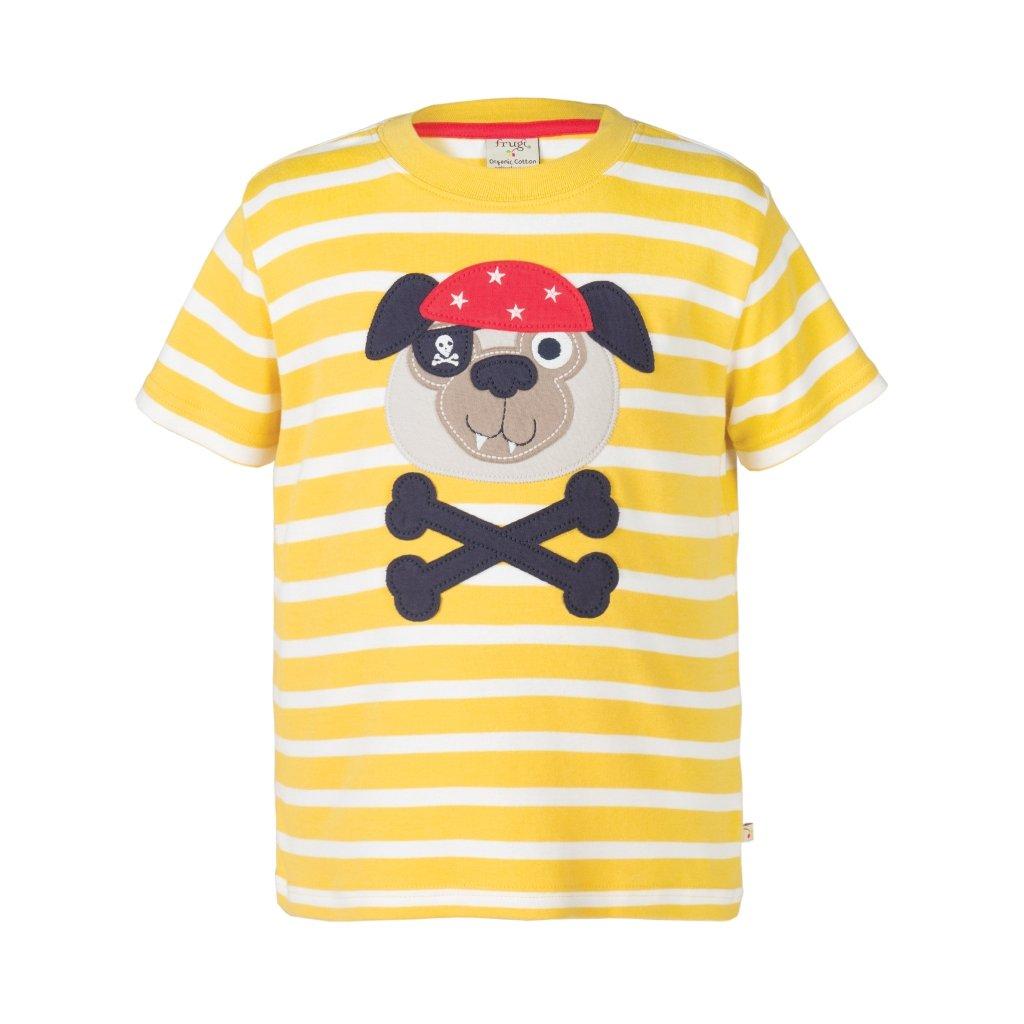 Tričko pásikavé so psom pirátom - Frugi - Biomoda 1dd2860452b