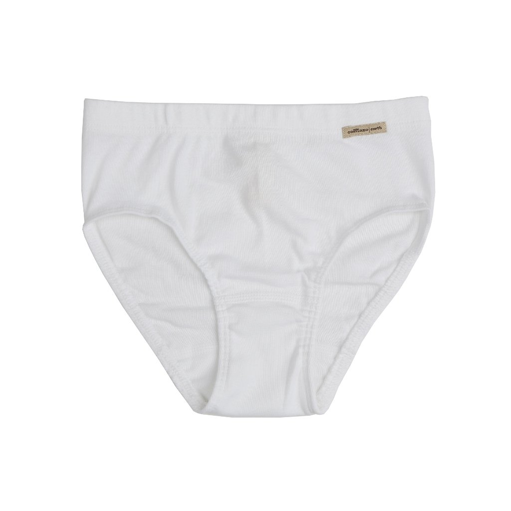 Dievčenské nohavičky z biobavlny biele - Comazo