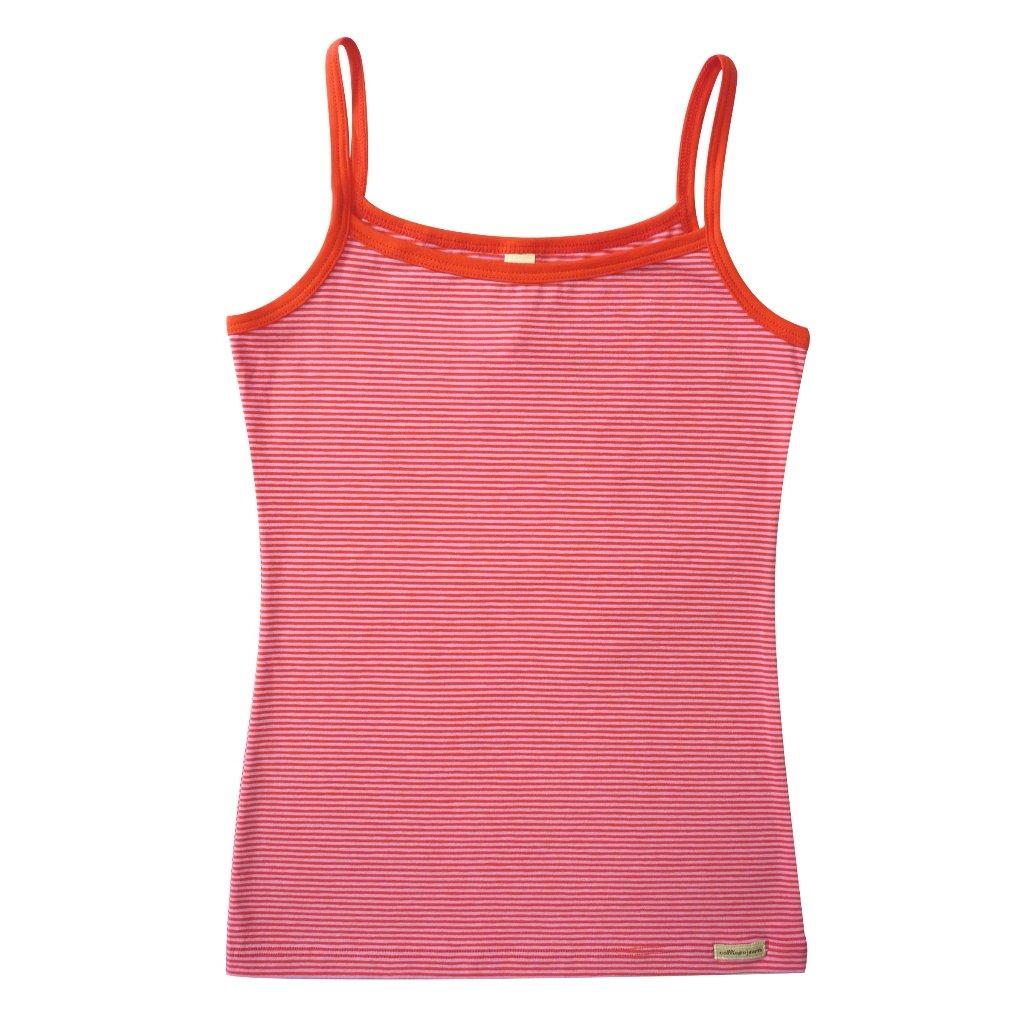 Dievčenské tielko s tenkými ramienkami červeno-ružové - Comazo
