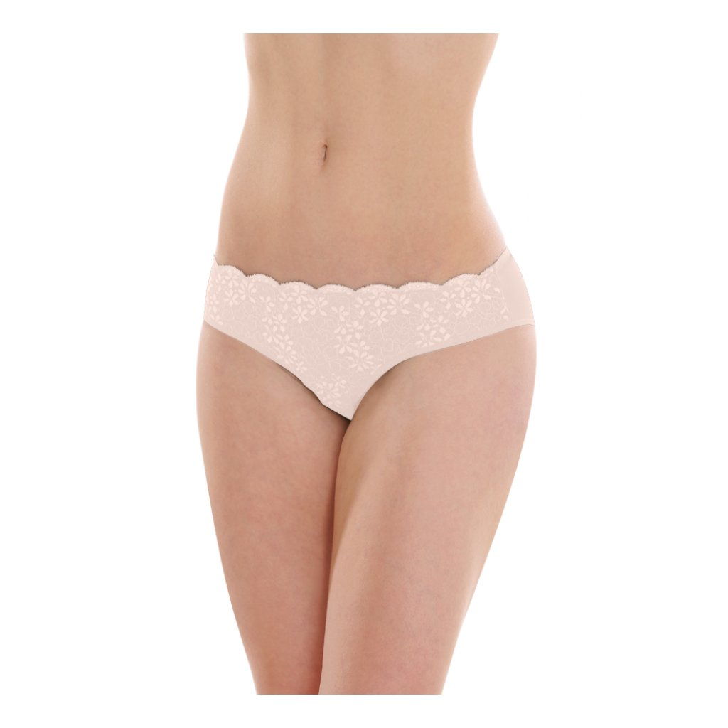 Dámske nohavičky klasické s čipkou telové - Comazo