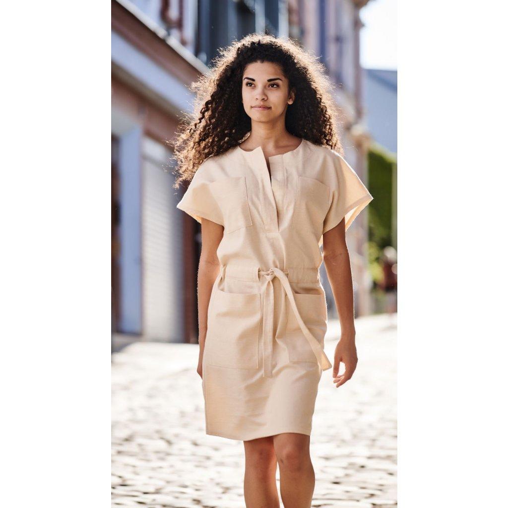 d2059f2c931 Dámske plátené šaty Safari - Biošatník - Biomoda