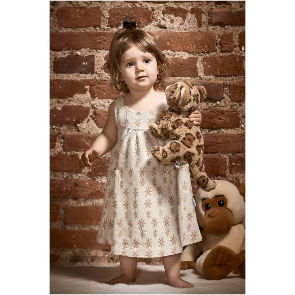 Detské šaty z biobavlny Rozkvitnutá lúka - Biošatník