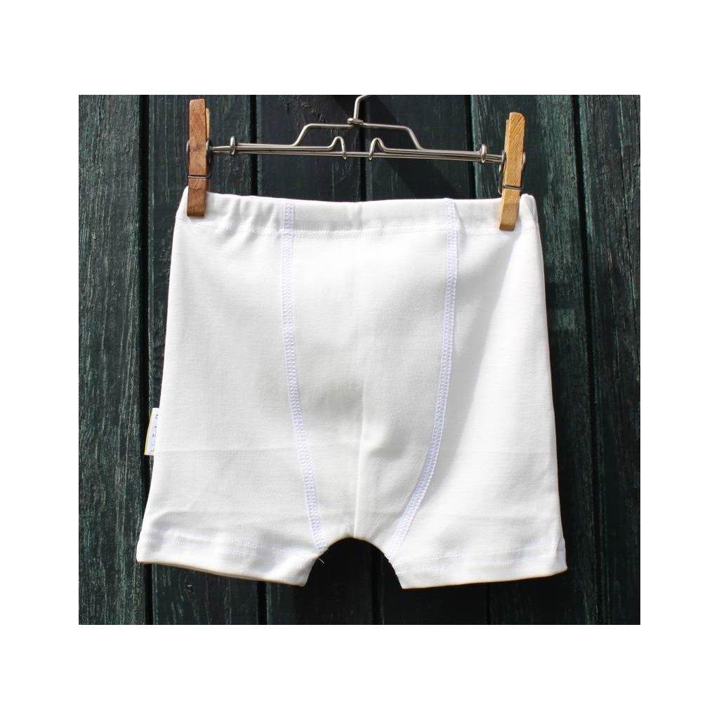 Chlapčenské boxerky Eco White - Biošatník