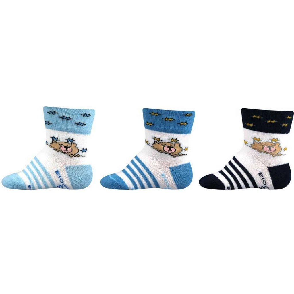 Dojčenské ponožky s medvedíkom chlapčenské balenie 3 páry - Boma