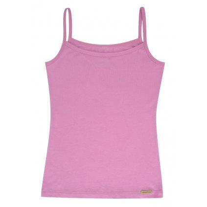 Dievčenské tielko s tenkými ramienkami ružové - Comazo