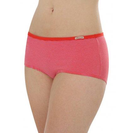 Dámske nohavičky hipster červené prúžkované - Comazo