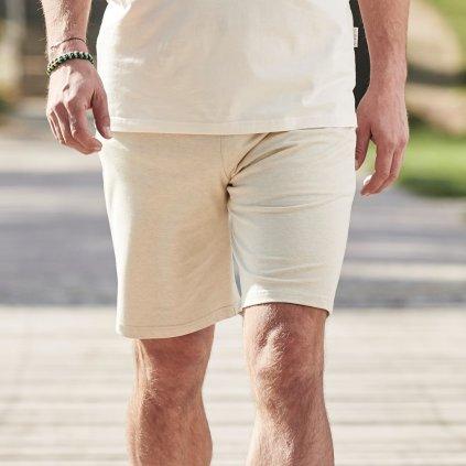 Panske pyzamove nohavice kratke z biobavlny 1 1