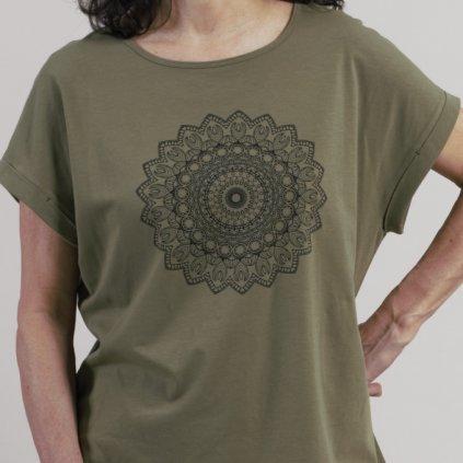 10380279601 0205 11 Fairtrade comazo earth Damen Shirt Motivdruck avokado