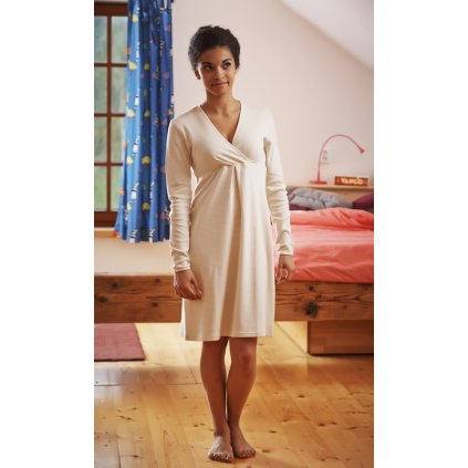 Tehotenská a dojčiaca nočná košeľa, krátky rukáv - Biošatník